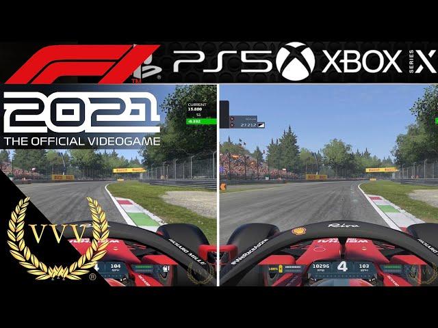 F1 2021 - PS5 Vs XBox Series X Monza comparson