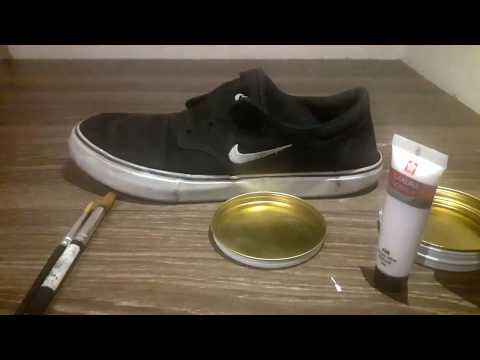 repaint shoe with acrylic