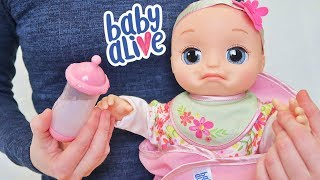 Куклы Пупсики Беби Элайв новая интерактивная живая кукла для девочек плачет спит смеется Зырики ТВ