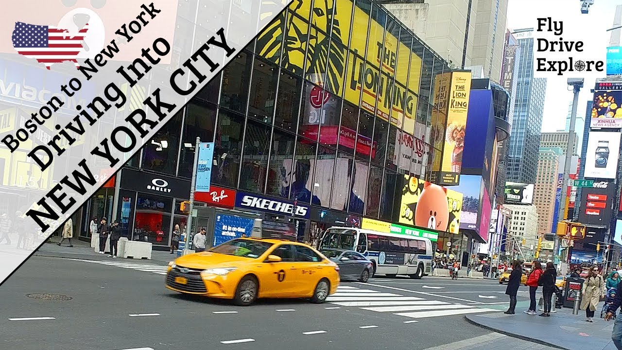 Driving To New York City - First Time British Drivers In NYC