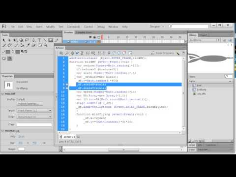 Actionscript 3.0 demo - create a flying bird in flash