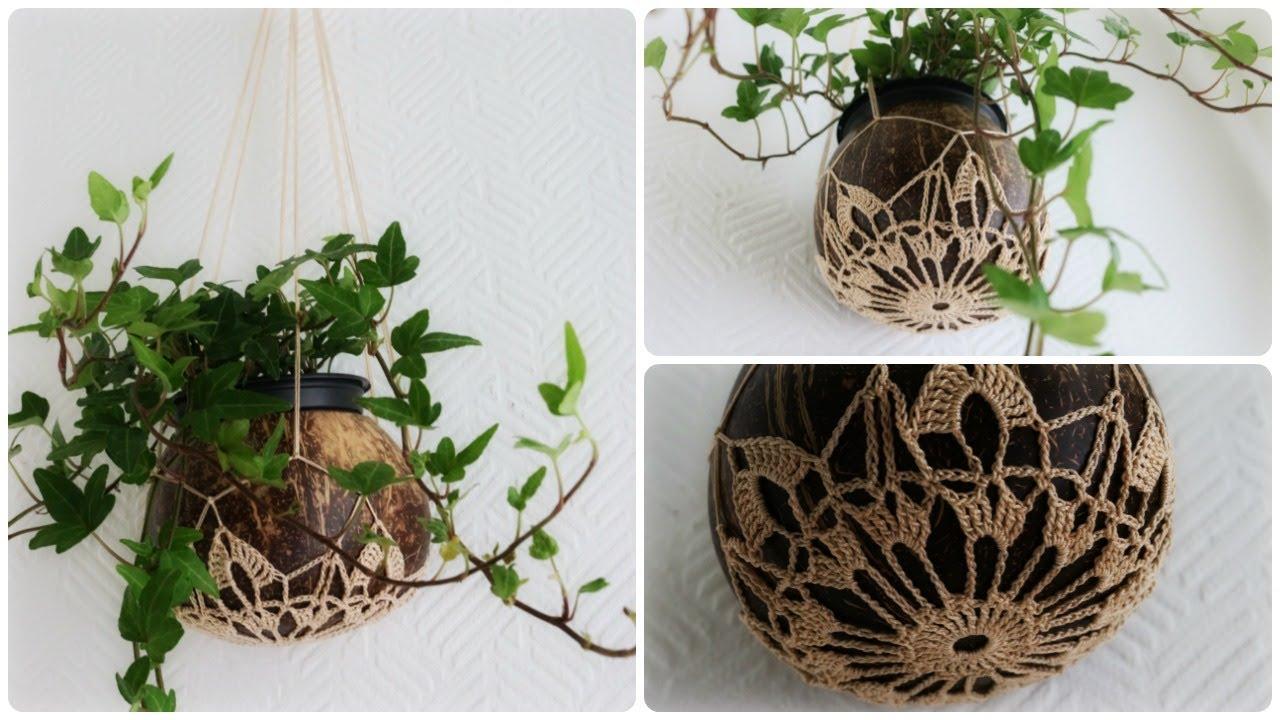 Häkel Blumenampel Diy Crochet Plant Hanger Eng Sub Youtube