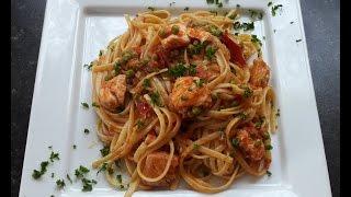 Italian Pasta with Fresh Salmon - Malika