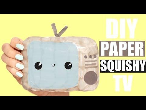 TV PAPER SQUISHY TUTORIAL | NO PAINT, NO FOAM etc.
