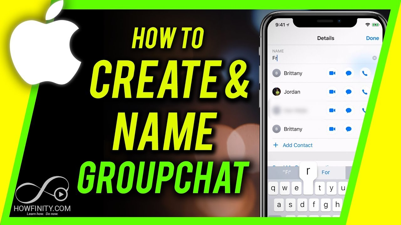 How to make a contact group on iphone 7 plus