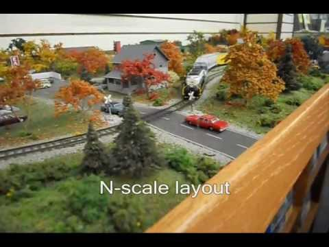 Model train railroad displays of ho and n scale layouts at for N scale bedroom layout