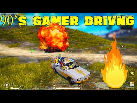Funny Gameplay With SRB - @90s Gamer Car Driving Vera Level Gameplay In Pubg Mobile