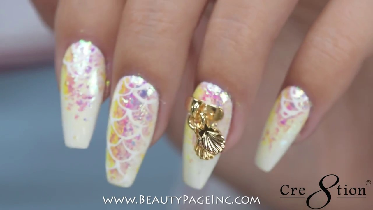 Mermaid Nail Art With Cre8tion - YouTube