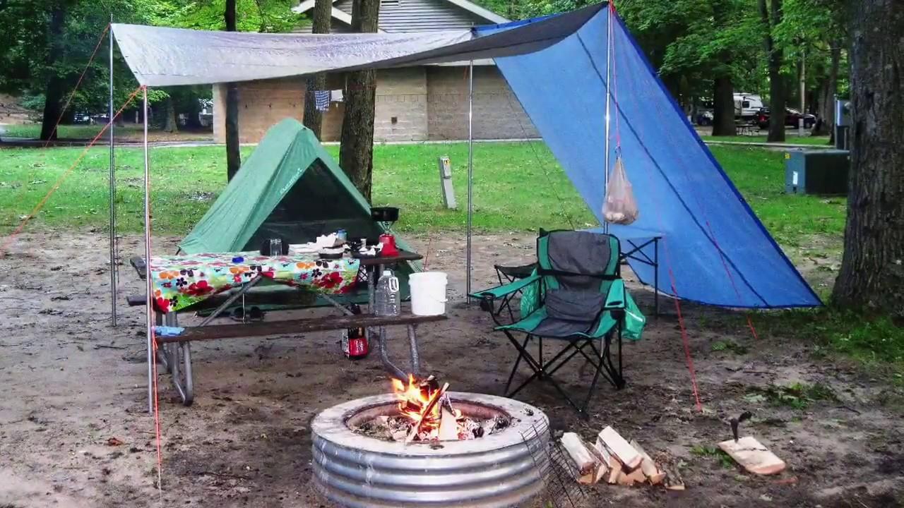 campsite setup youtube. Black Bedroom Furniture Sets. Home Design Ideas