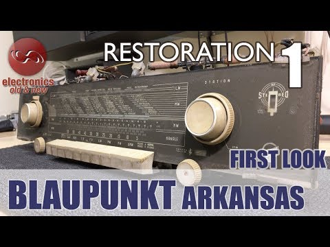 Blaupunkt Arkansas stereo tube radio restoration - Part 1. First look and initial testing.