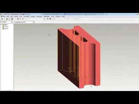 บทที่ 3 การสร้างชิ้นงานรูปอิฐบล็อก ด้วยโปรแกรม ProDesktop (4/12)