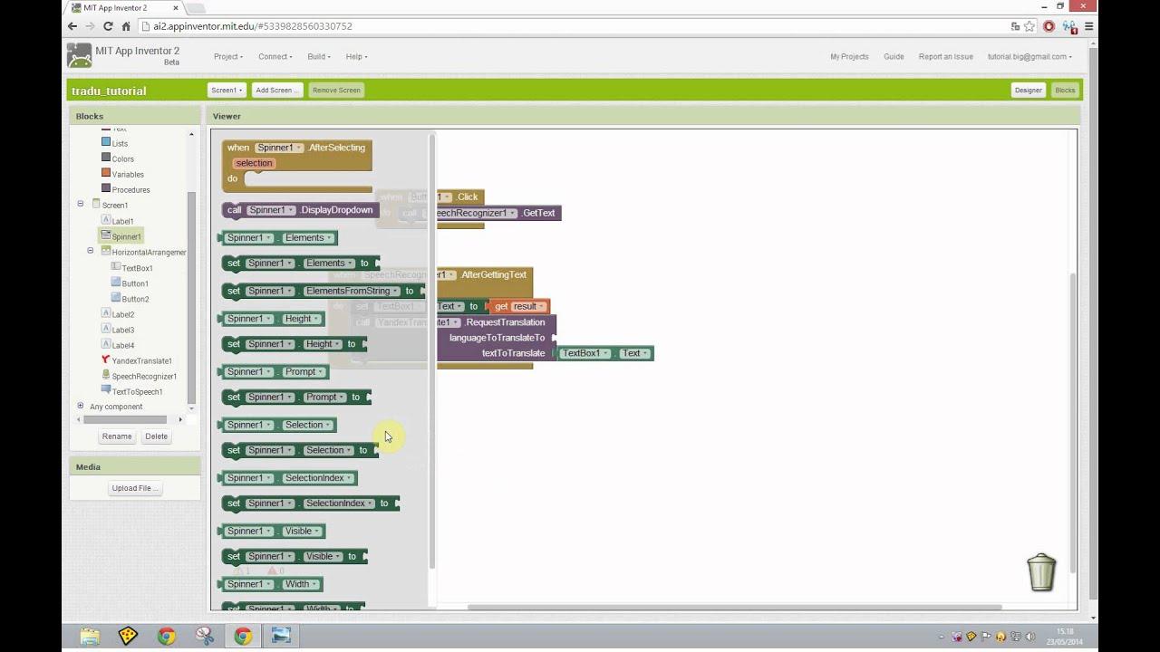 Tutorial Mit App Inventor 2 ITA# Tutorial 26 Yandex ...