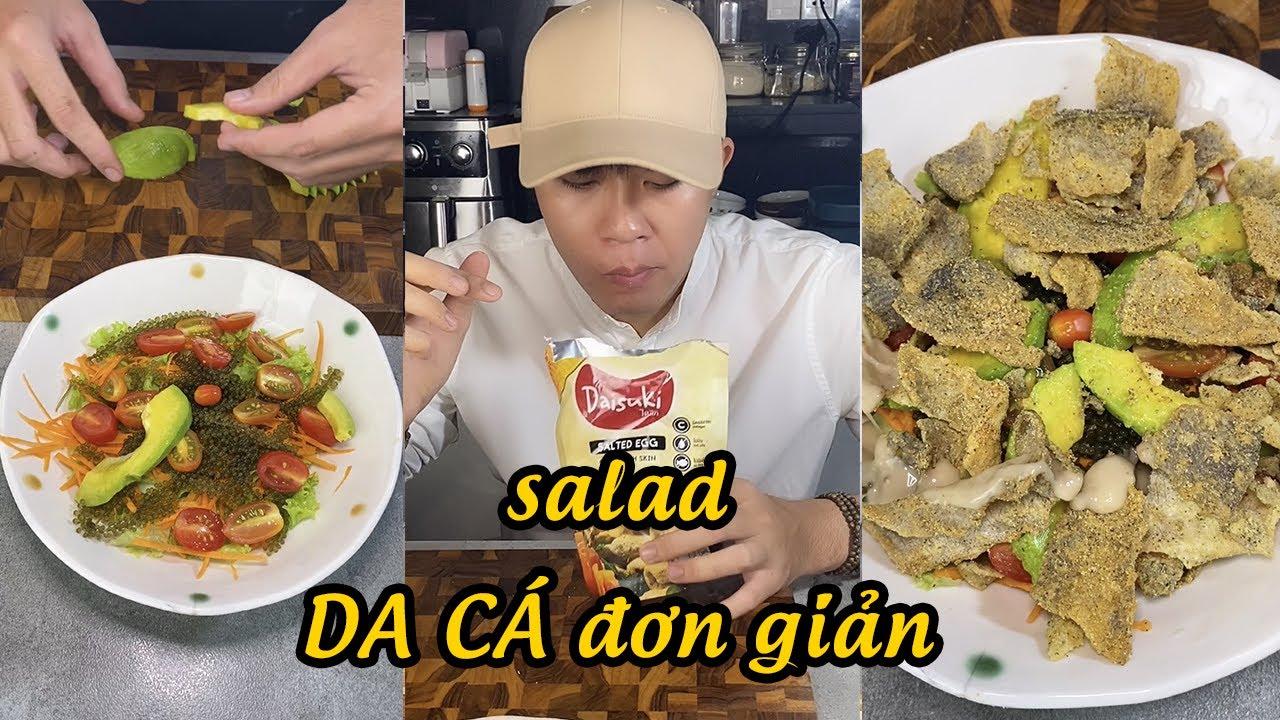 Làm Salad với da cá Ba Sa trứng muối siêu ngon tại nhà #tiktok #shorts
