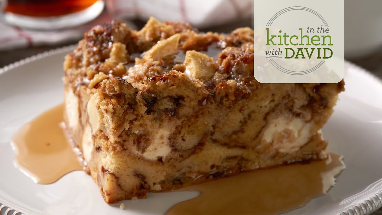 How to Make Apple Cinnamon Roll Bread Pudding - YouTube