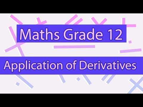 Examples of Applications of Derivatives