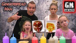 Game Master vs Gingerbread Man GM Pancake Art Challenge!!!