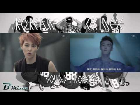 EXO - Wolf | Korean - Chinese MV Comparison (ver.A)