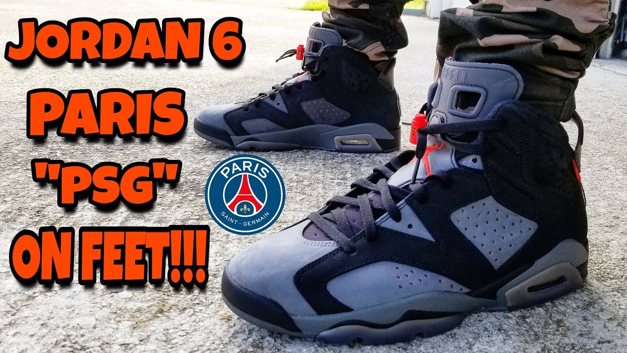 Who Copped Today Jordan 6 Psg Paris On Feet Review Youtube