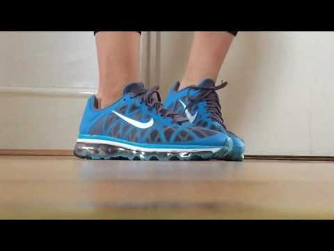 Womens Nike Air Max Blue Glow White Dark Grey Metallic Silver Slo