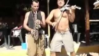 Micah the violinist + Ruben Moran + Marcello Marchitto @ Sa Trinxa Ibiza