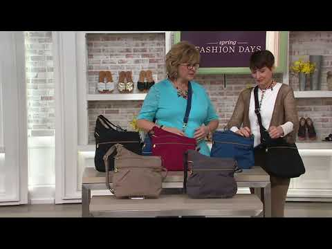 892d557fbd Travelon Anti Theft Quilted Crossbody with Expansion on QVC - YouTube
