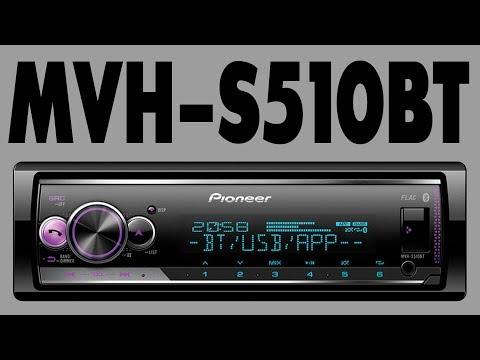 Автомагнитола Pioneer MVH-S510BT обзор основных функций, подключение Android, Bluetooth
