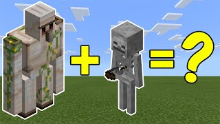 Combined An  Ron Golem And A Skeleton In Minecraft   Heres What Happened...