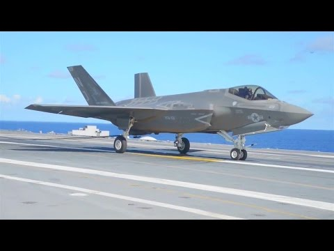 US Navy - F-35C Stealth Fighters Aircraft Carrier Flight Testing [720p]