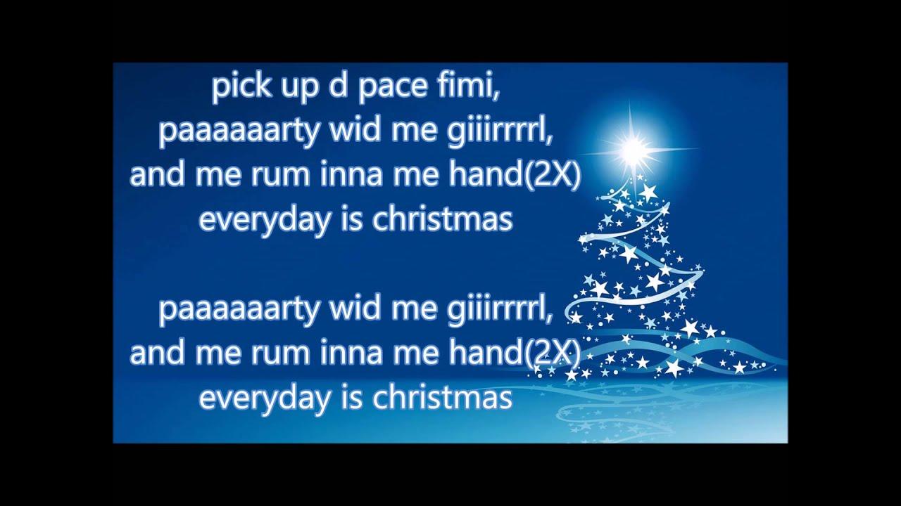 Vybz Kartel - Everyday Is Christmas - lyrics -November 2015 - YouTube