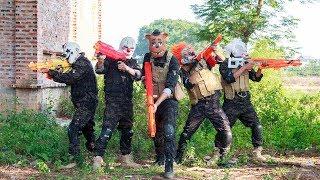 MASK Nerf War : Police Warrior Alpha Nerf Guns Fight Criminal Group Mask The Battle Is Not Balanced
