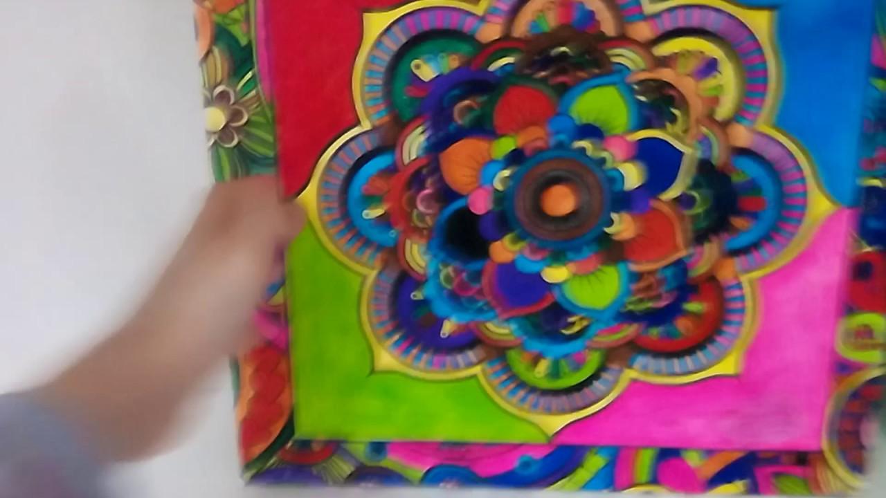 Mandala Boyama Sını Boyadıktan Sonra Youtube