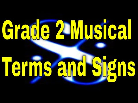 Grade 2 Terms and Signs
