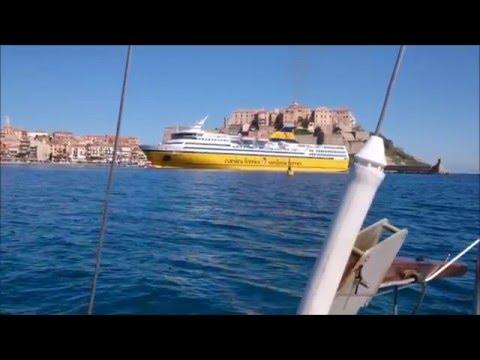 Traversée continent-Corse en voilier 5.60m (Edel 2)