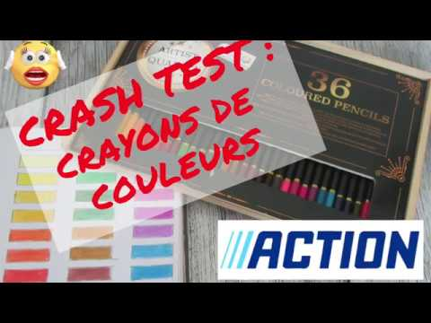 Crash Test Crayons De Couleur De Chez Action Youtube