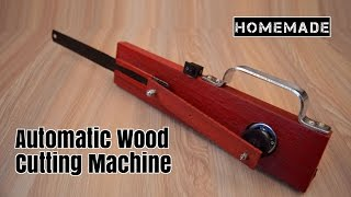How to make a JIGSAW MACHINE at home - Homemade