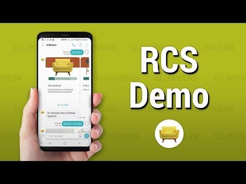 Samsung Galaxy S9 RCS Demo -  AllModern Chatbot