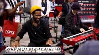 Cory Henry & Nick Semrad - Full Jam session at NAMM 2016