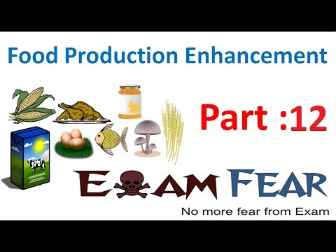Biology Food Production part 12 (Mutation Breeding technique, Biofortification) class 12 XII