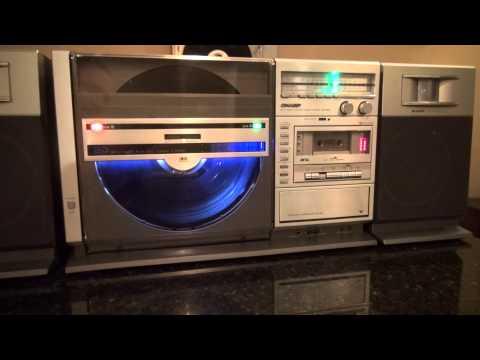 Sharp VZ-3000 Both Sides Vertical Record Player Ghetto Blaster