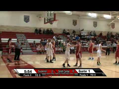 Smith Center Lady Red Vs. Superior NE Lady Wildcats  Basketball