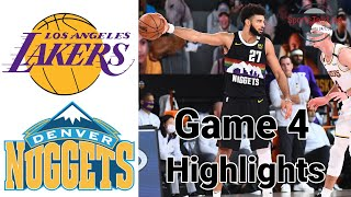 Lakers vs Nuggets HIGHLIGHTS Full Game | NBA Playoff Game 4