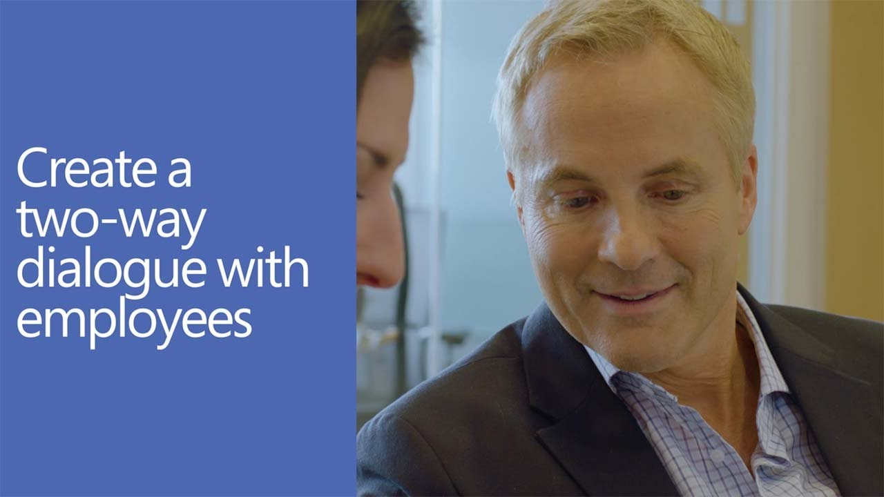 Create a two-way dialogue with employees with Yammer