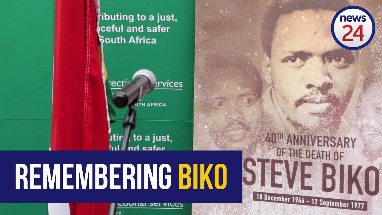 Jacob Zuma lays a wreath in memory of Steve Biko