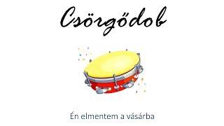 Hangszer ovi - Én elmentem a vásárba (csörgődob) / Hungarian children song (cat, cow, dog, animal)