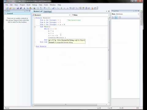 visual basic tutorial 1 create a console application