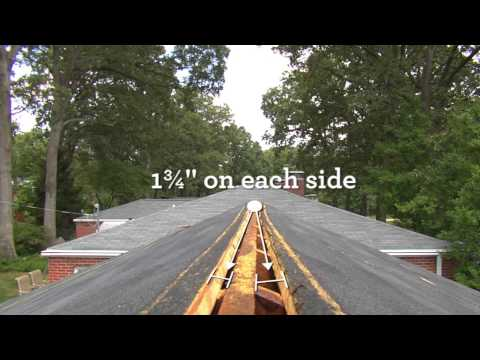 Cutting a Slot for Ridge Vent Installation | Quarrix Building Products