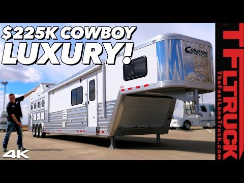This Enormous Cimarron Horse Trailer Costs As Much As A Lamborghini! Here Is Why