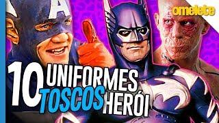 10 PIORES UNIFORMES DE HERÓIS | Omelista