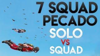 7 SQUAD PECADO PARÇALAMA   PUBG Mobile Miramar Solo VS Squad 1v4