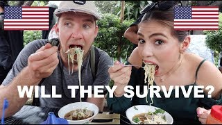 Two Americans take INDONESIAN STREET FOOD TOUR! (PECEL, BAKSO, MIE AYAM, KERAK TELOR)
